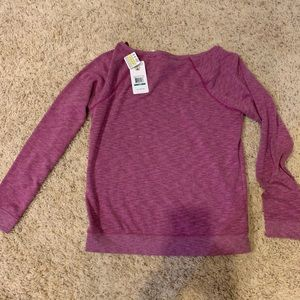 New Under Armour wide neck sweatshirt. Size large